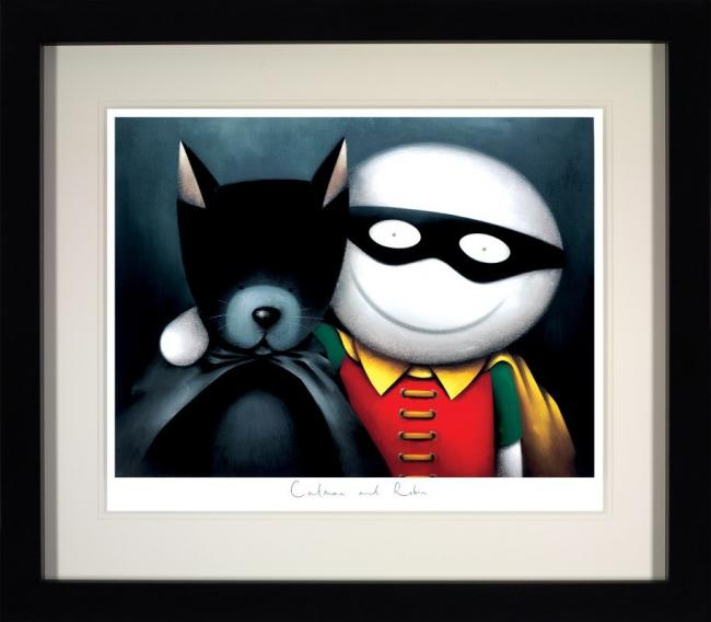 Catman and Robin (Deluxe) - Framed by Doug Hyde