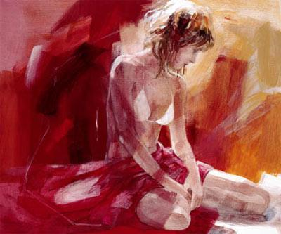 At Ease (canvas) by Christine Comyn