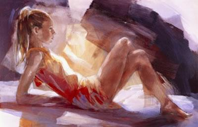 At Full Length (canvas) by Christine Comyn