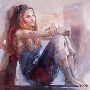 Whisper (canvas) by Christine Comyn