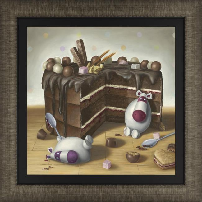 Let Them Eat Cake - Framed by Peter Smith