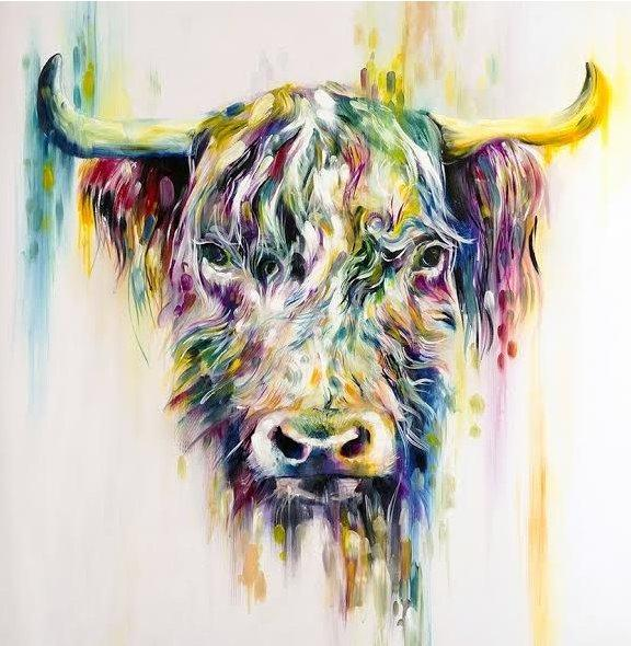 Highland Cow Large by Katy Jade Dobson
