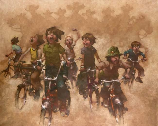 Yeehah The Return Of The Magnificent Seven - Canvas - With slip by Craig Davison