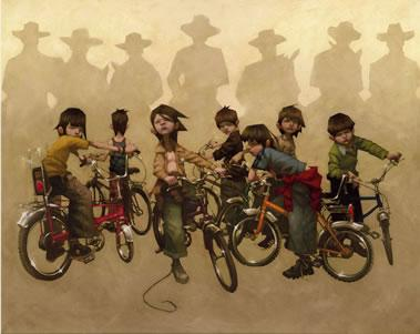 The Magnificent Seven - Canvas - With slip by Craig Davison