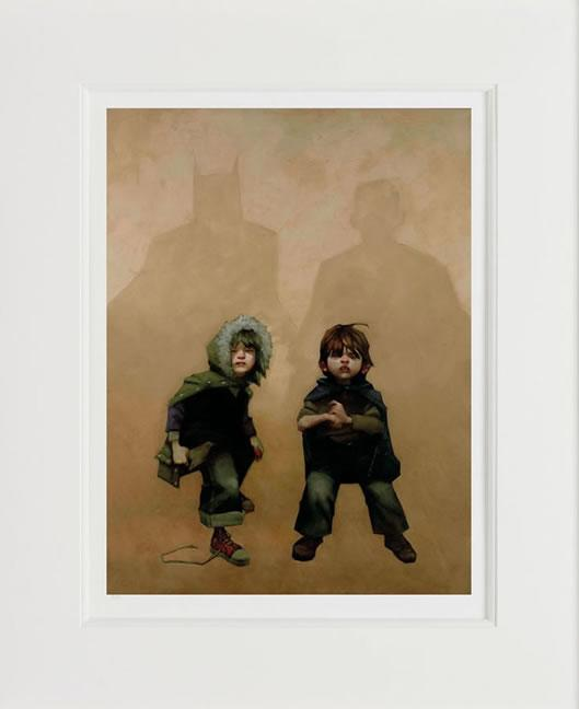 The Bat Signal, Time To Act - Mounted by Craig Davison