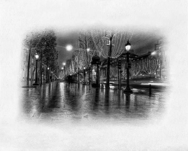 Street Lights - Paris - Mounted by Darren Baker
