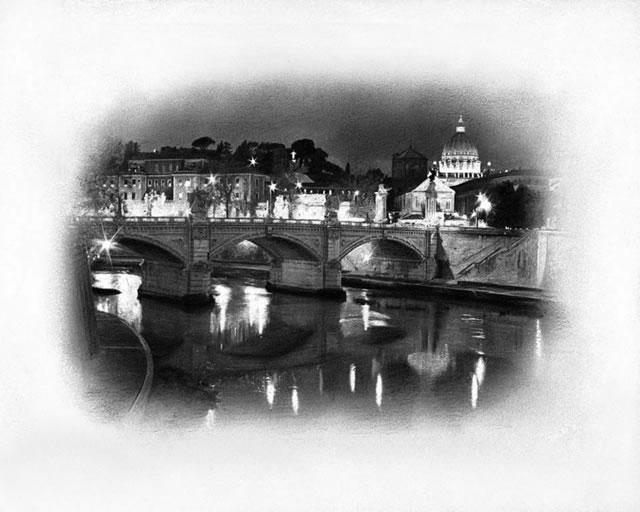 City Lights - Rome - Mounted by Darren Baker