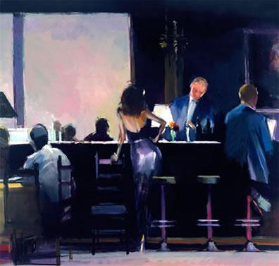 In The Mood - Canvas by David Farrant