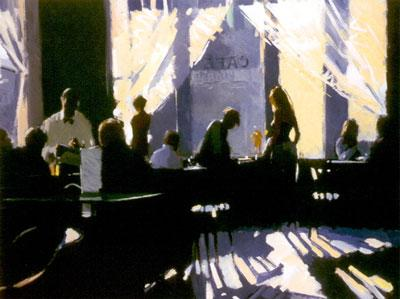 Cafe Europa (Canvas) by David Farrant