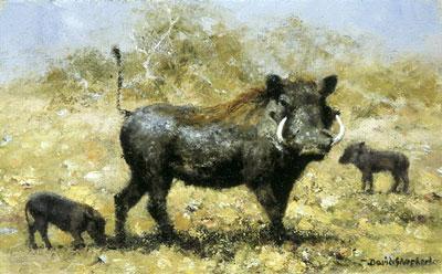 Warthog Family by David Shepherd