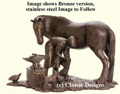 The Old Forge - Stainless Steel Sculpture by David Shepherd