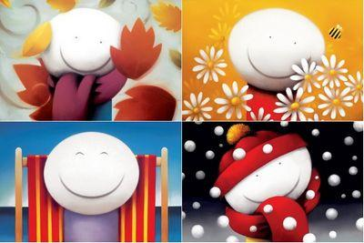 Smiles Set Of 4 - Mounted by Doug Hyde