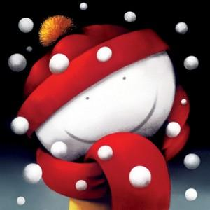 Winter Smiles - On Glass - Framed by Doug Hyde