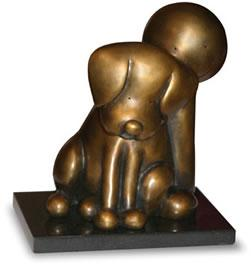 Beware Of The Dog  - Bronze by Doug Hyde