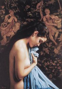 Blue Shawl by Douglas Hofmann