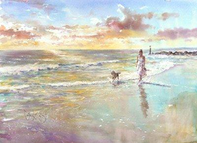 Sunset Stroll by Gordon King