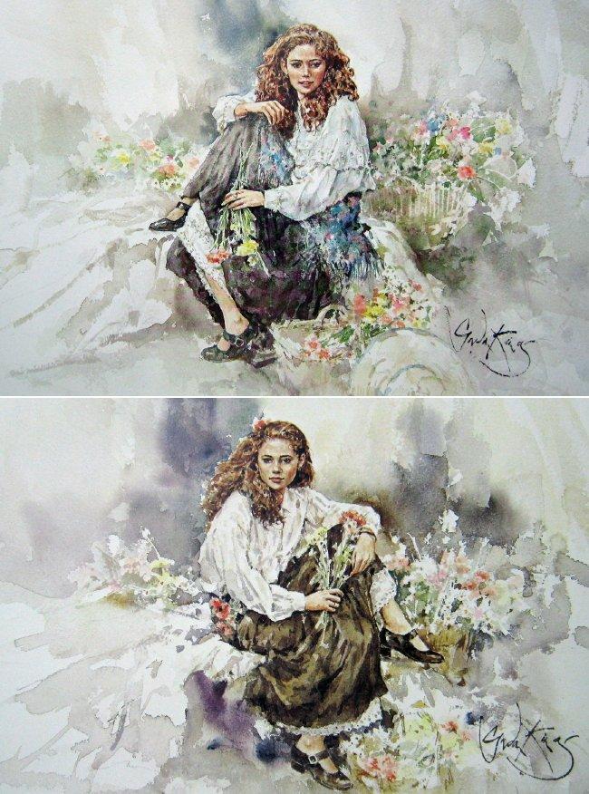 Emily Study I & II (Pair) by Gordon King