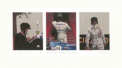 Tension, Timing, Triumph - Monaco '71 by Jack Vettriano