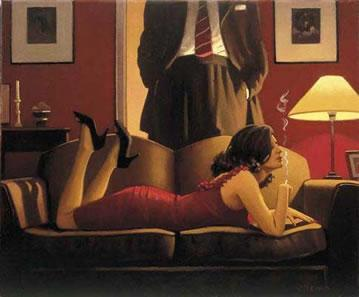 The Parlour Of Temptation by Jack Vettriano