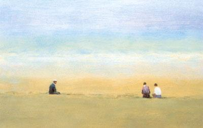 Three Figures Sitting by John Bond