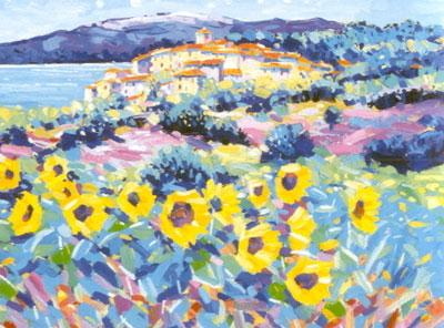 Sunflowers Provence by John Holt