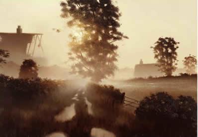 Meadow Lane by John Waterhouse