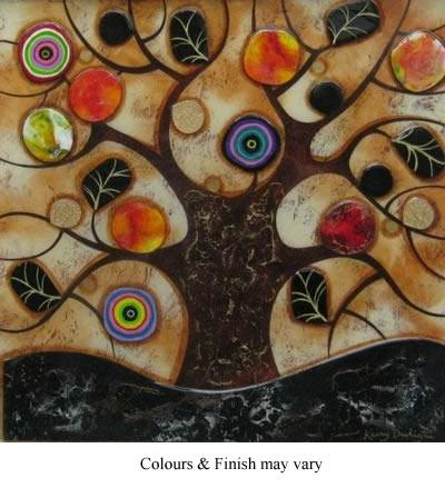Tree Of Life - Square I - Original  - Framed by Kerry Darlington