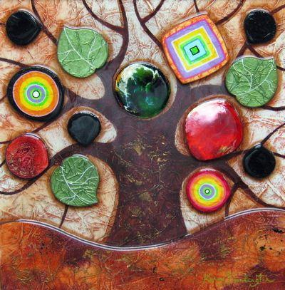 Tree Of Life - Small - Original  - Framed by Kerry Darlington