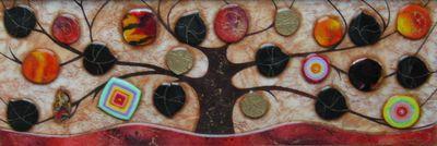 Tree Of Life - Medium II - Original  - Framed by Kerry Darlington