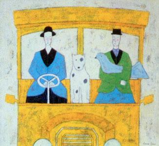 Dog On A Bus by Annora Spence
