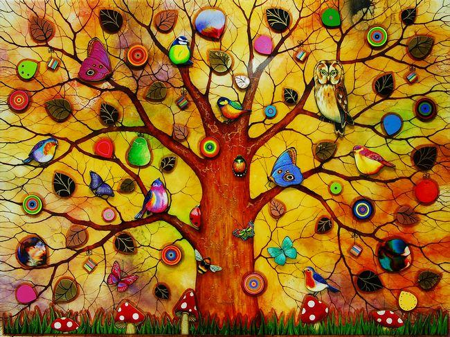 Tree Of Life - Dawn  - Framed by Kerry Darlington