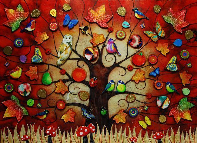 Tree Of Life - Autumn by Kerry Darlington