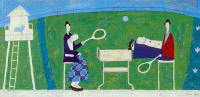 Playing Tennis by Annora Spence