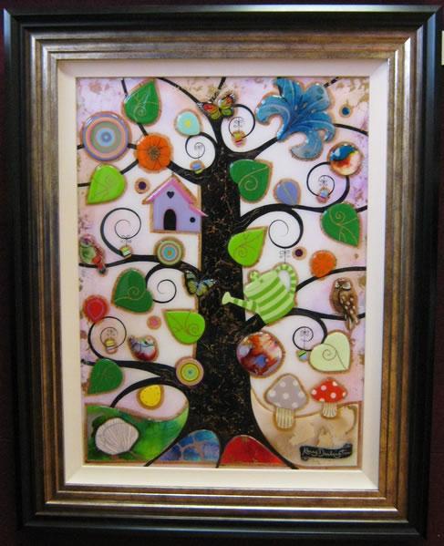 Tree Of Harmony III - Original - Framed by Kerry Darlington