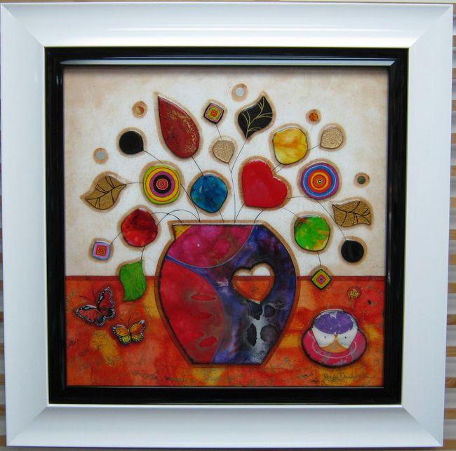 Flower Pot (Orange Base) - Original by Kerry Darlington