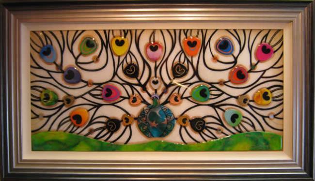 Peacock Splendour - Original by Kerry Darlington