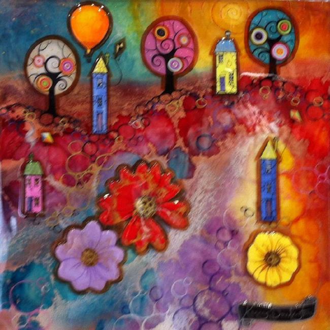 Lollypop Land I - Original - Framed by Kerry Darlington