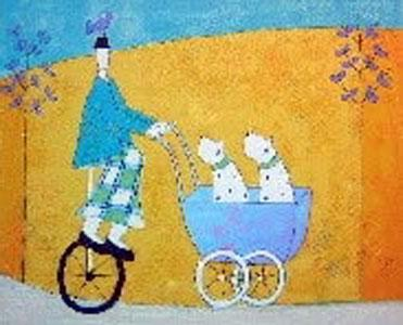 Dogs In A Pram by Annora Spence