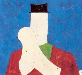 Man & Bird by Annora Spence