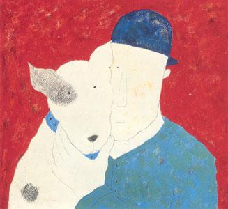 Man & Dog by Annora Spence