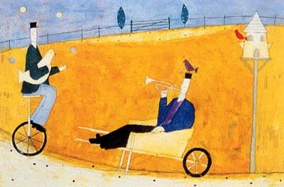 Man In A Wheelbarrow by Annora Spence