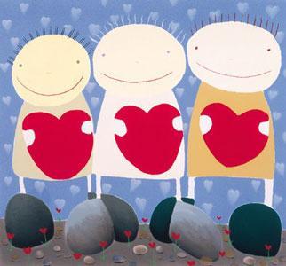 The Three Of Hearts by Mackenzie Thorpe