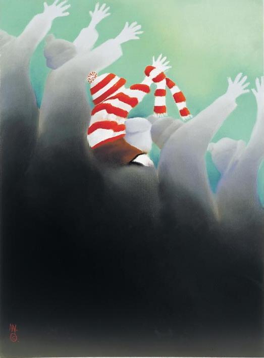 In The Crowd by Mackenzie Thorpe