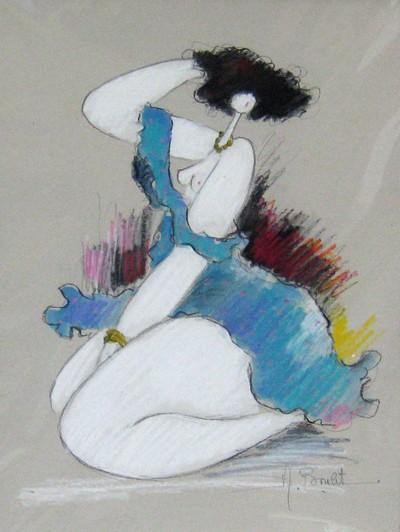 Femme En Bleu by Michel Boulet