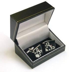 Love (Black) - Cufflinks by Peter Smith