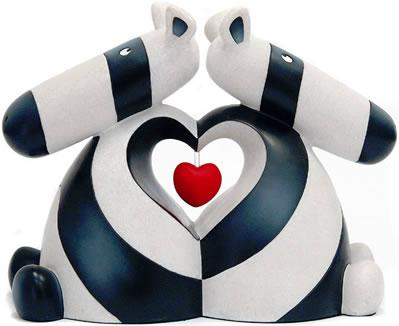 When Two Hearts Beat As One - Sculpture by Peter Smith