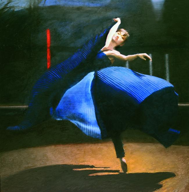 The Blue Dress by Robert Heindel