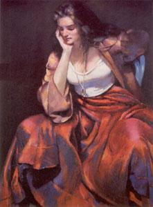 Esther With Silver Locket by Robert Lenkiewicz