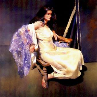 Esther Seated by Robert Lenkiewicz