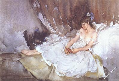 Cecilia Reading Poems by Russell Flint